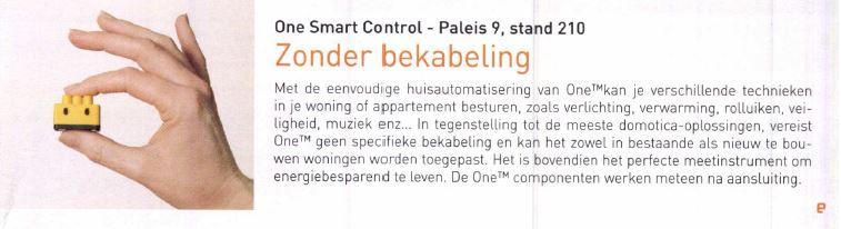 Publicatie Thema nieuws Oost-Brabant- ONE domotica