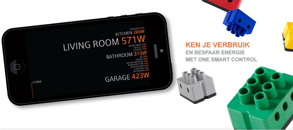 energie besparen en je energieverbruik meten en berekenen met de one domotica app