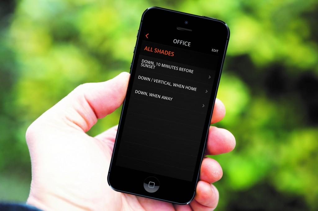 domotica systeem programmeren - domotica scènes instellen via iphone