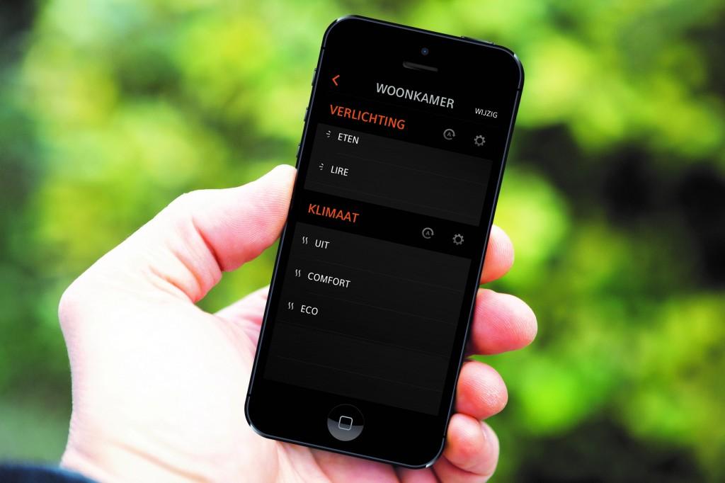 verwarming draadloos bedienen smartphone