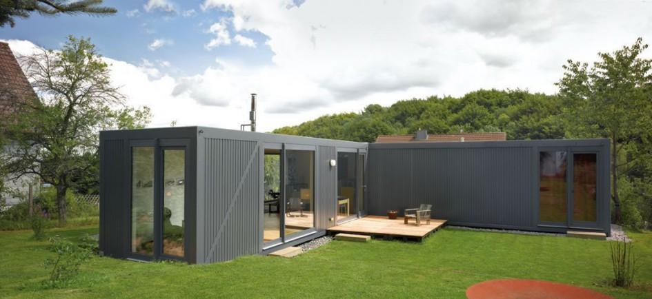 maison container - nouveaux concepts d'habitat domotique
